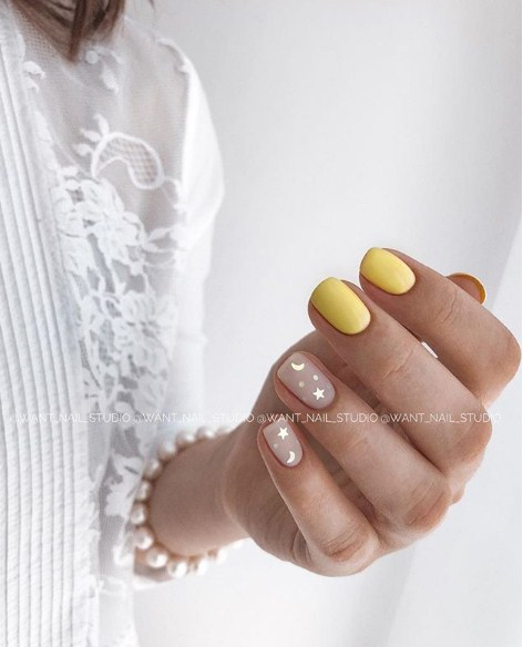 рисунки на коротких ногтях фото 70