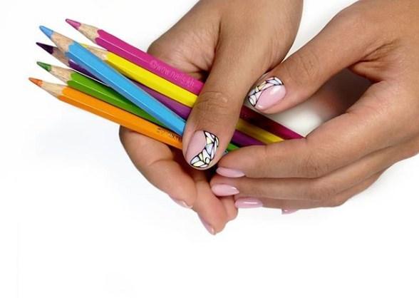 рисунки на коротких ногтях фото 73