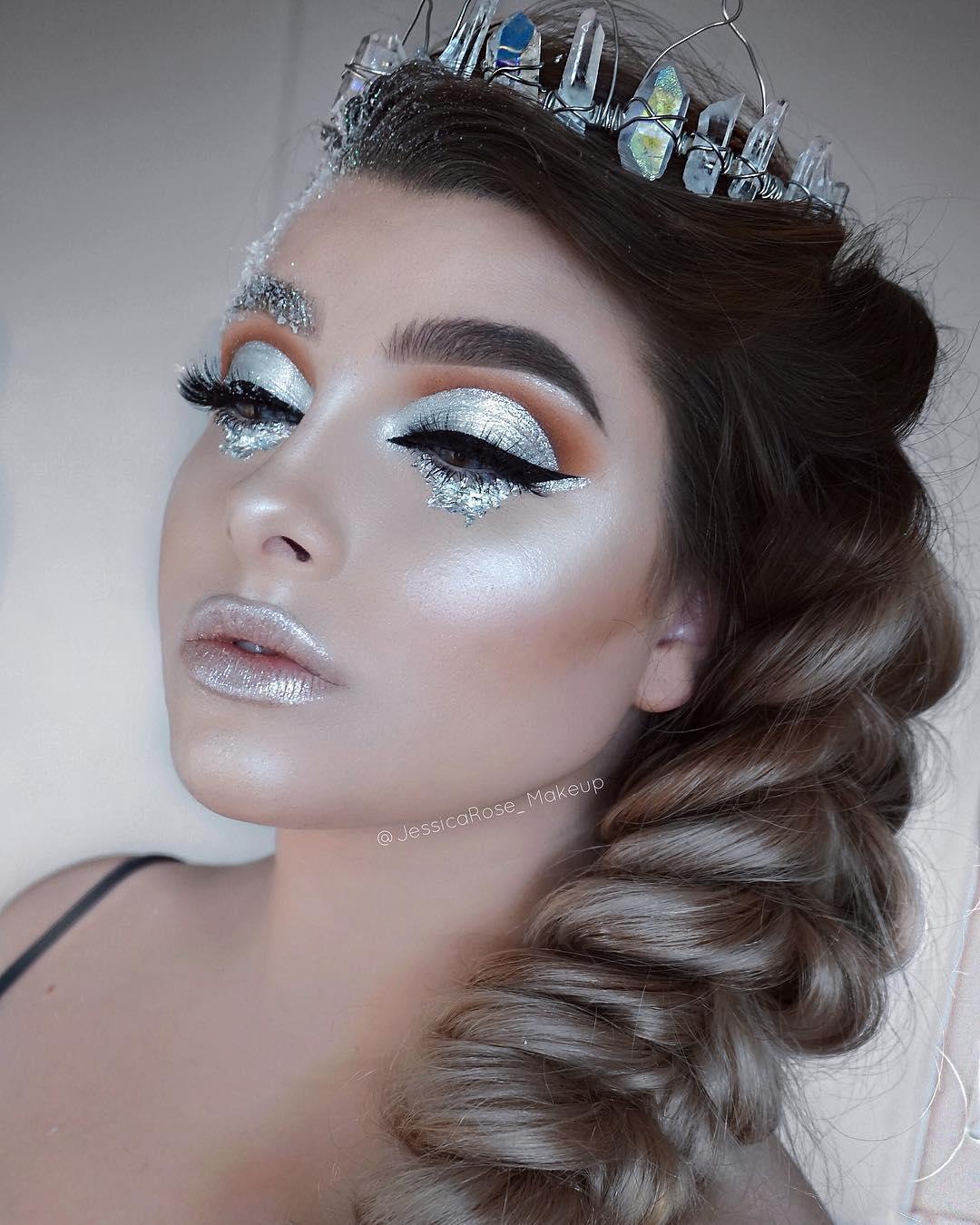 белый макияж фото 10