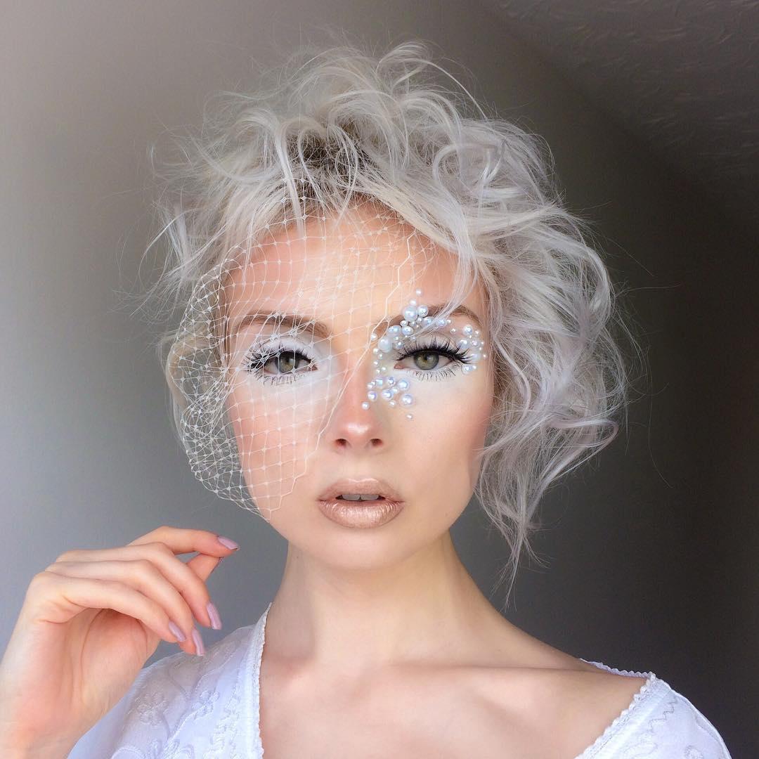 белый макияж фото 8