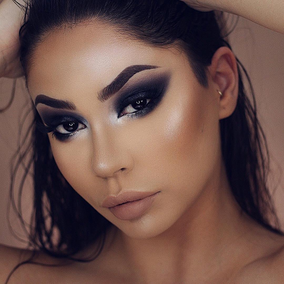 вечерний макияж для карих глаз фото 13