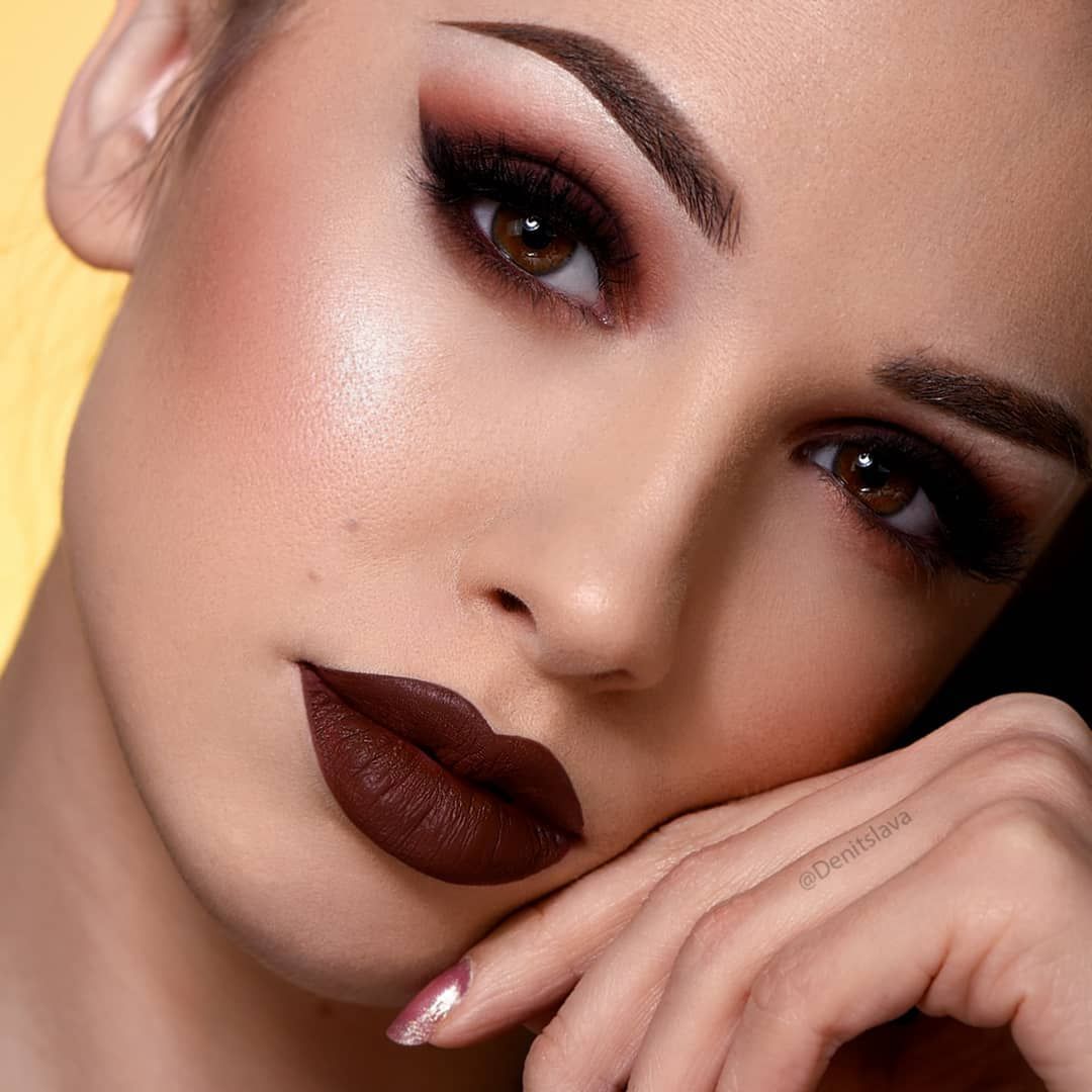 вечерний макияж для карих глаз фото 10