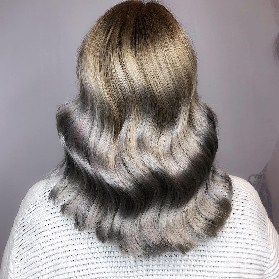 серые волосы 2019-2020 фото 1