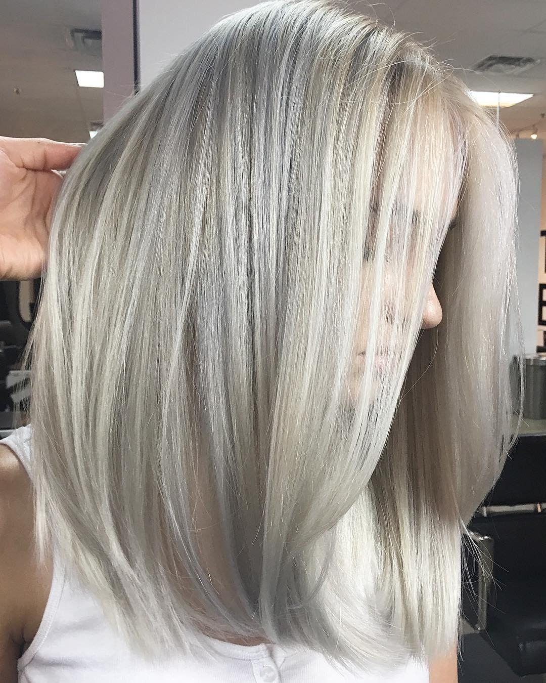 серые волосы 2019-2020 фото 2