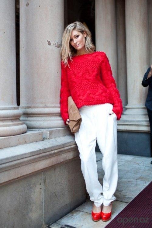 яркий свитер с чем носить фото 4