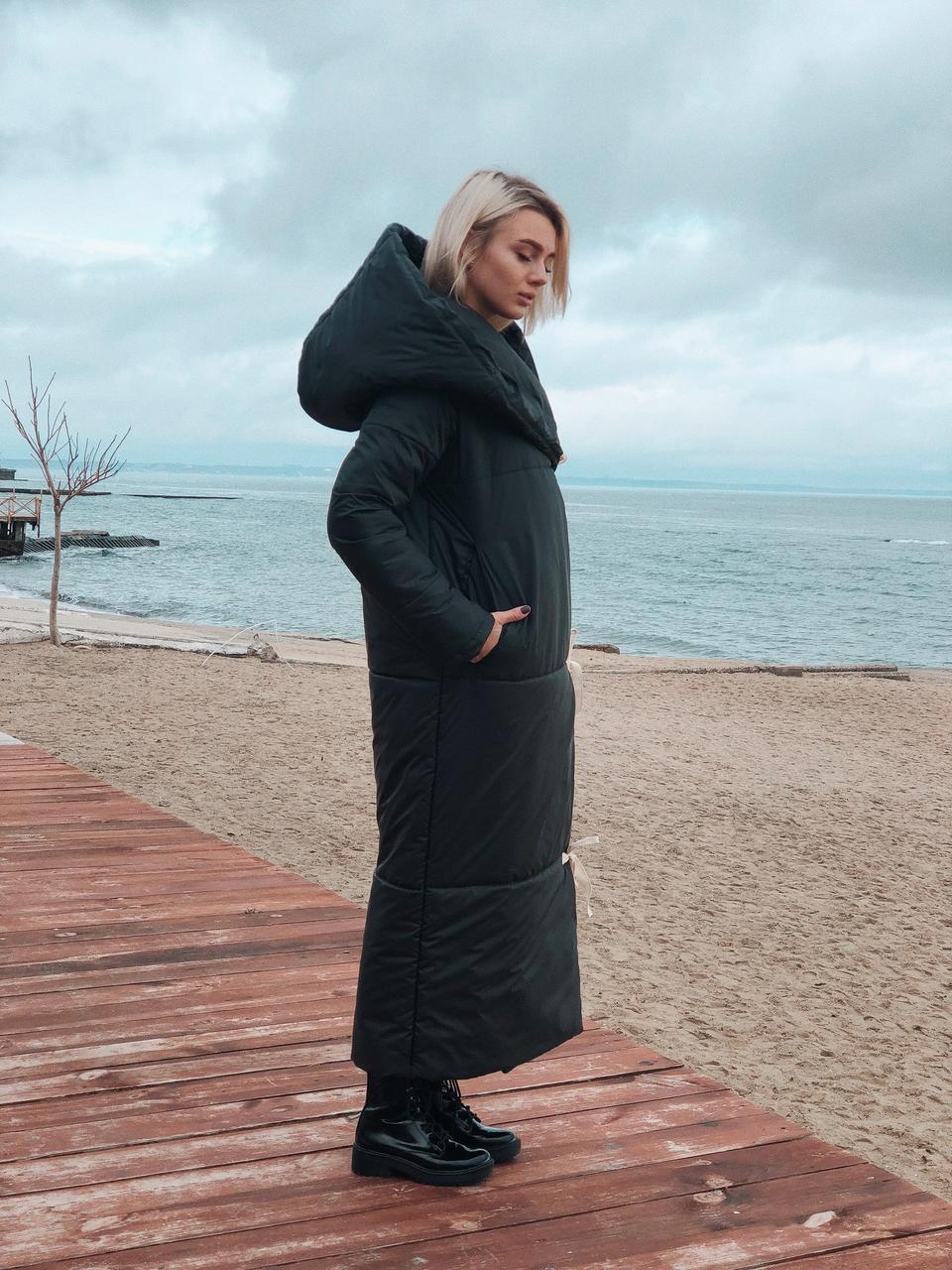 Пальто-пуховик осень-зима 2018-2019 новинки фото 3