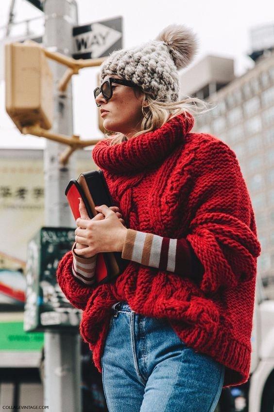 яркий свитер с чем носить фото 6