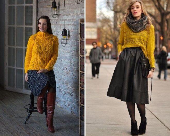 яркий свитер с чем носить фото 10