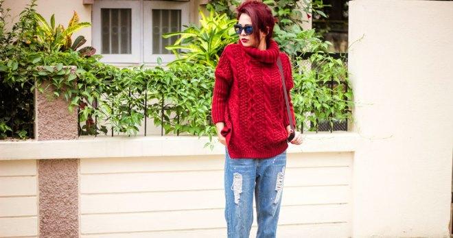 яркий свитер с чем носить фото 11