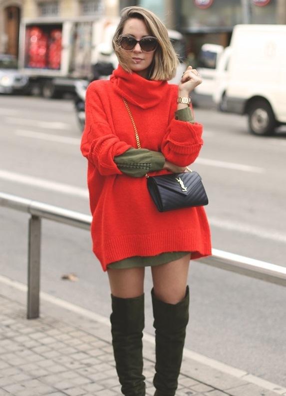 яркий свитер с чем носить фото 12