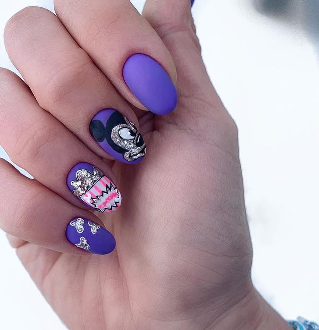 рисунки на коротких ногтях фото_6