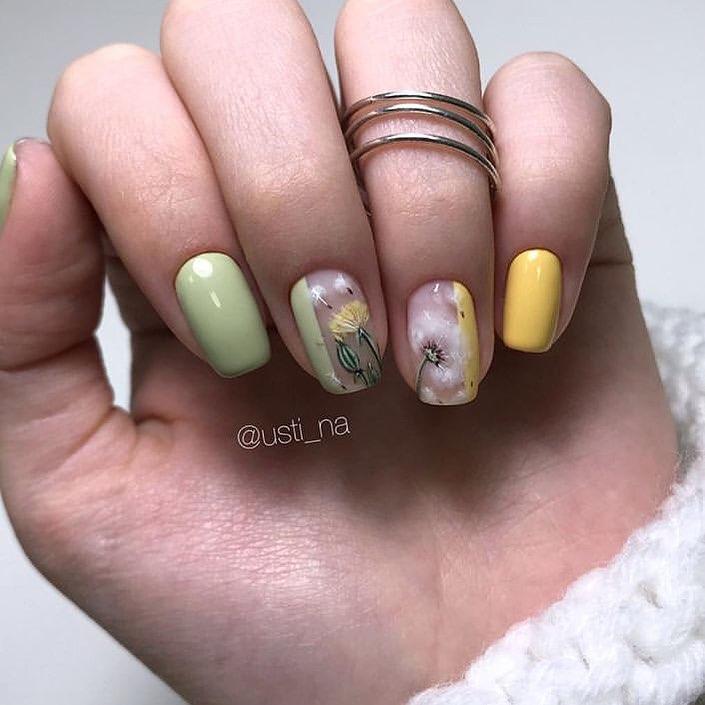 рисунки на коротких ногтях фото_2