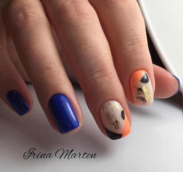 Маникюр на короткие ногти осень фото 4