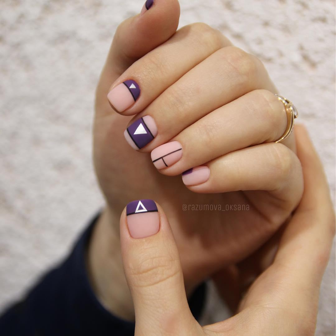 рисунки на коротких ногтях фото_34