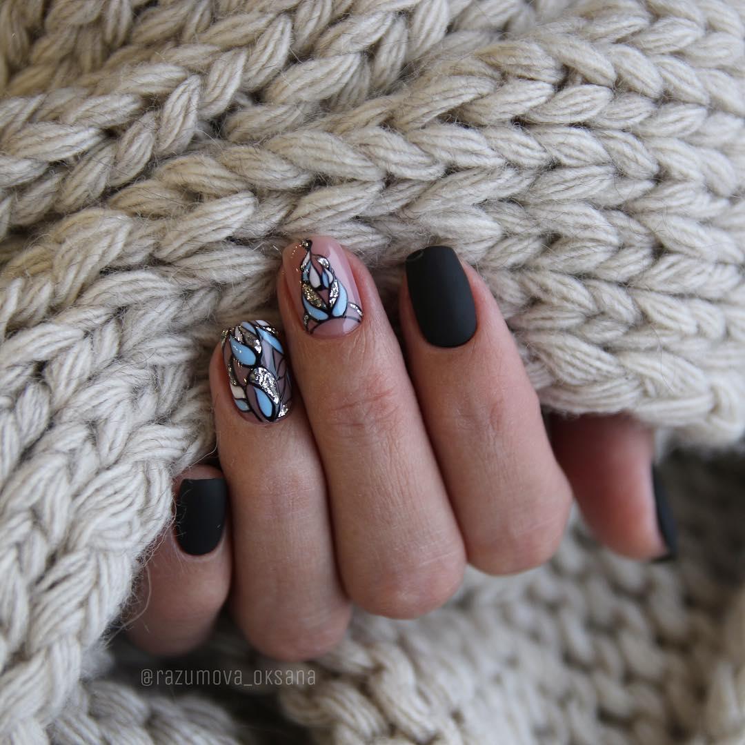 рисунки на коротких ногтях фото_33