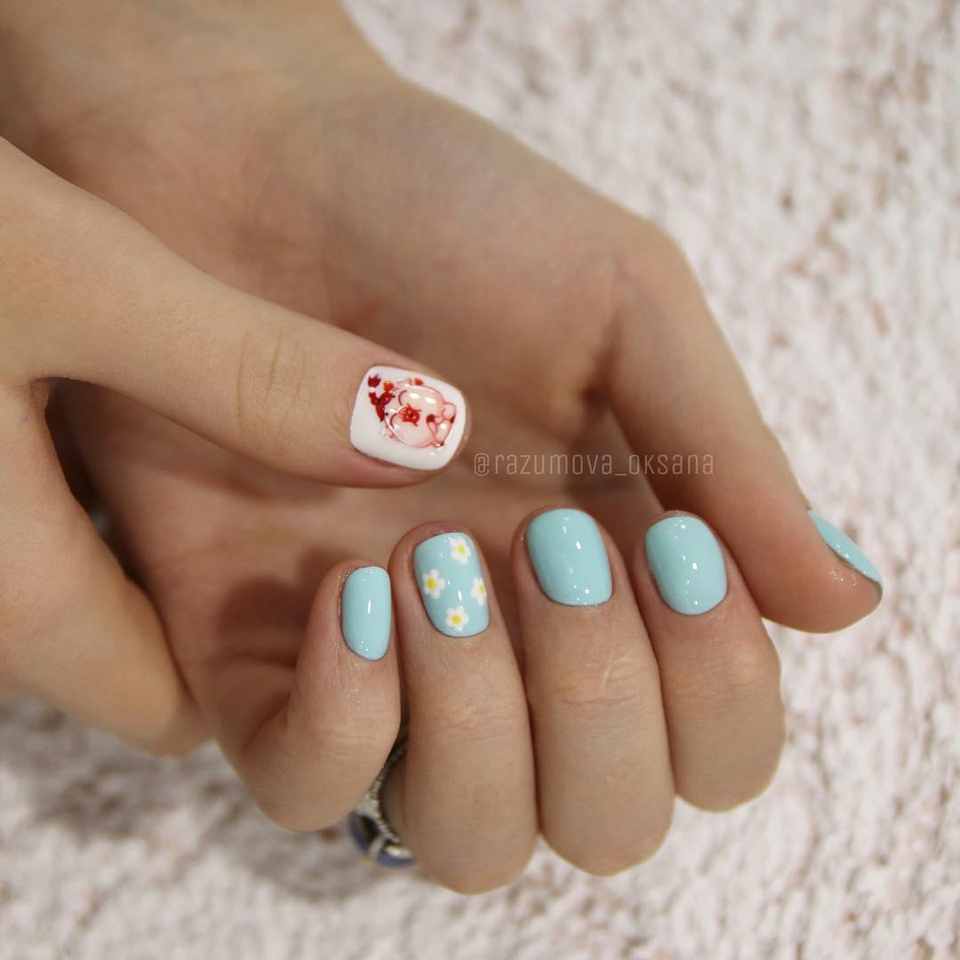 рисунки на коротких ногтях фото_30