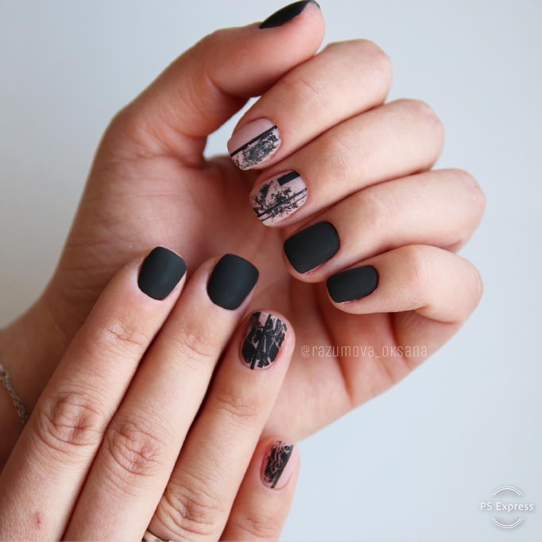 рисунки на коротких ногтях фото_27