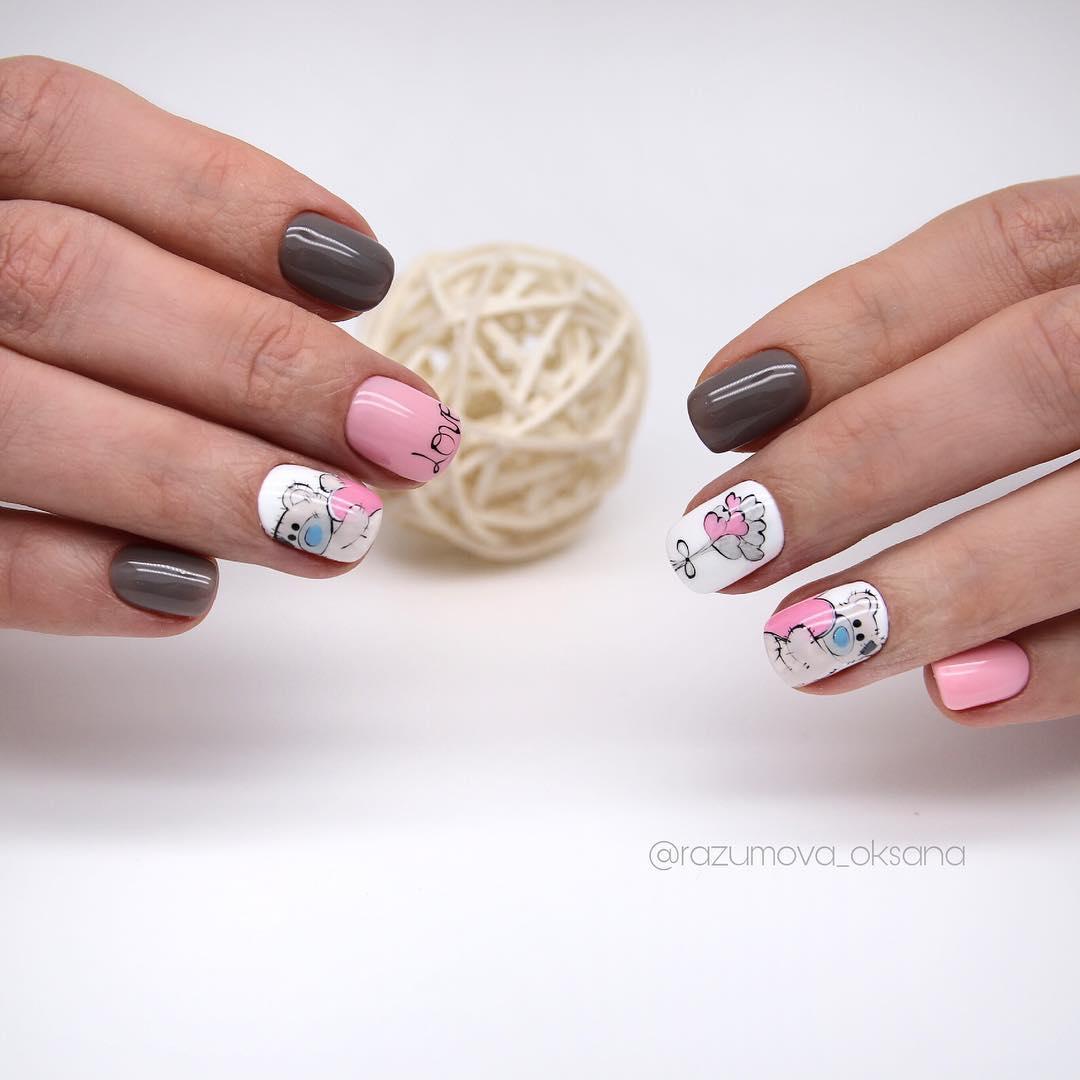 рисунки на коротких ногтях фото_26