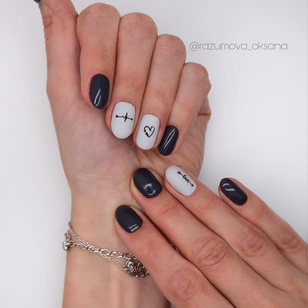 рисунки на коротких ногтях фото_25