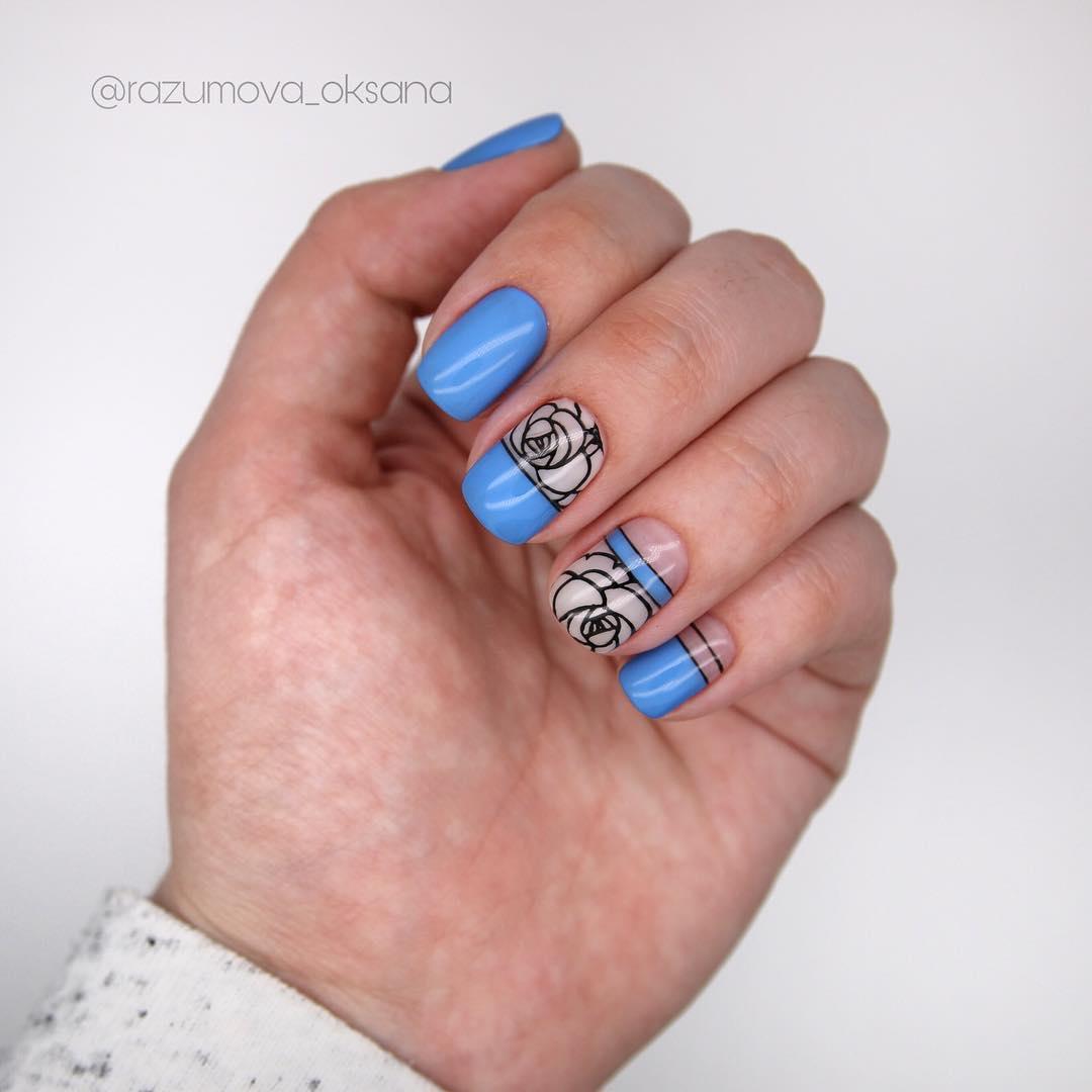 рисунки на коротких ногтях фото_24