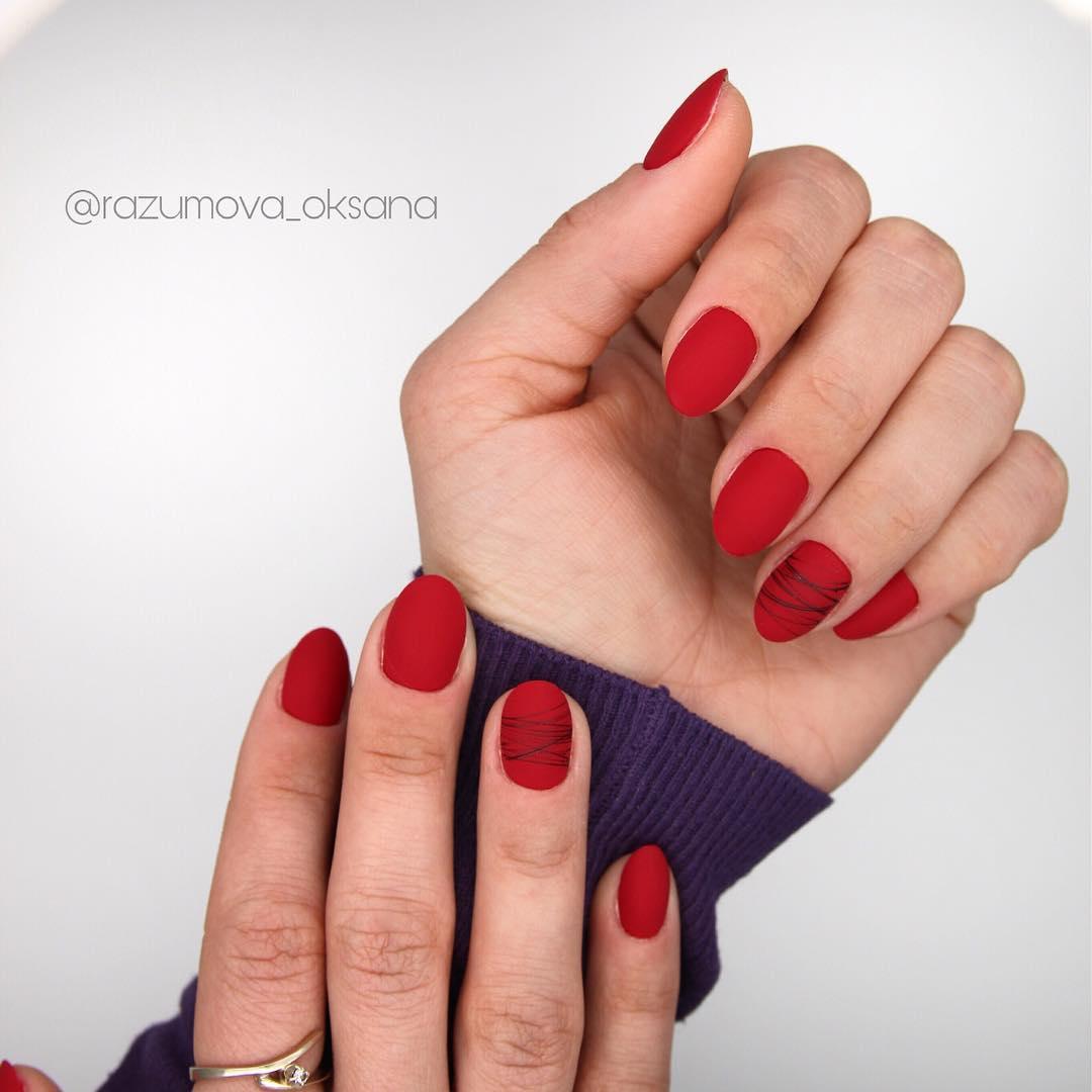 рисунки на коротких ногтях фото_23