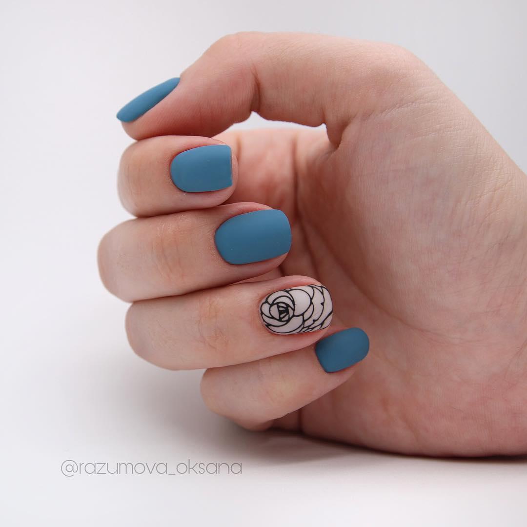 рисунки на коротких ногтях фото_22