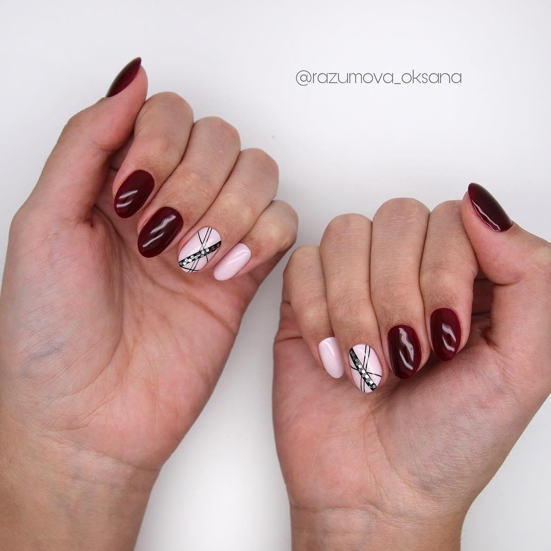 рисунки на коротких ногтях фото_21