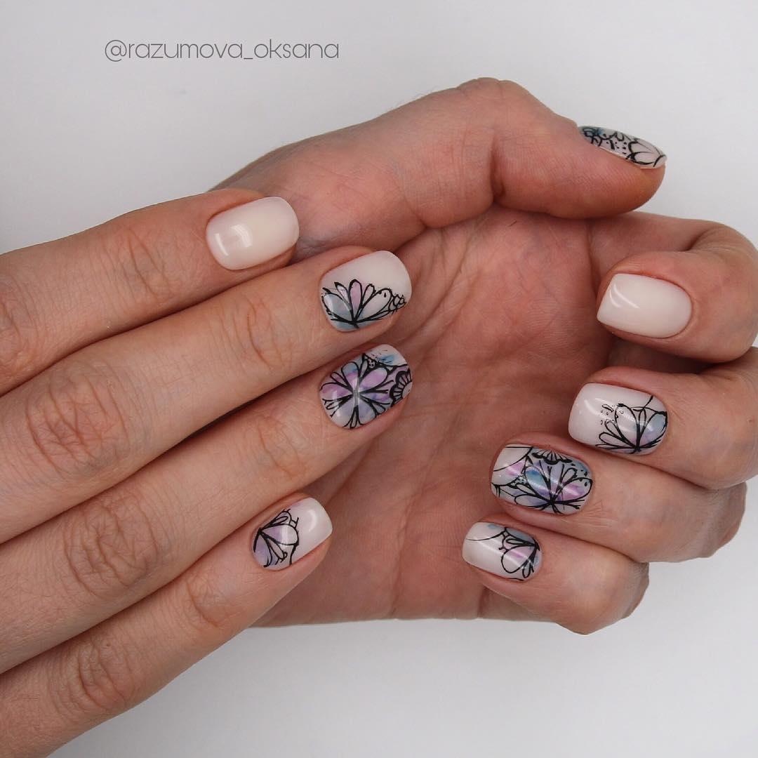 рисунки на коротких ногтях фото_18