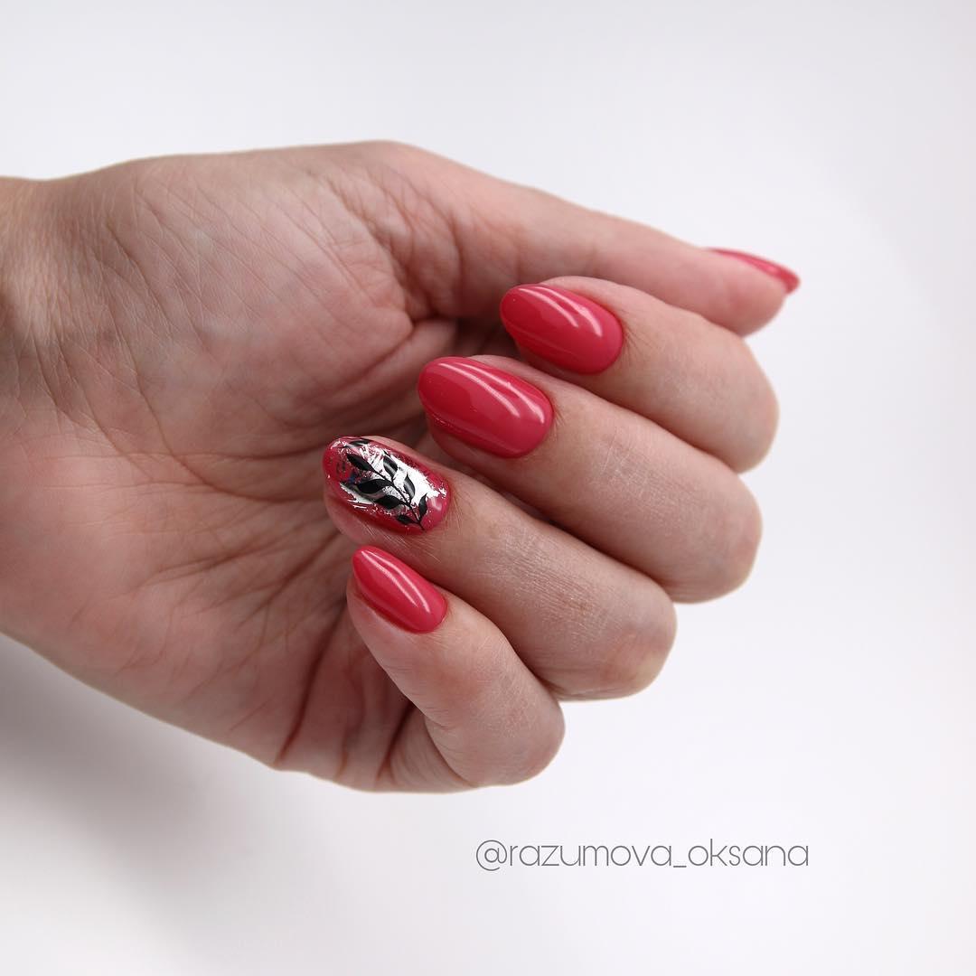 рисунки на коротких ногтях фото_17