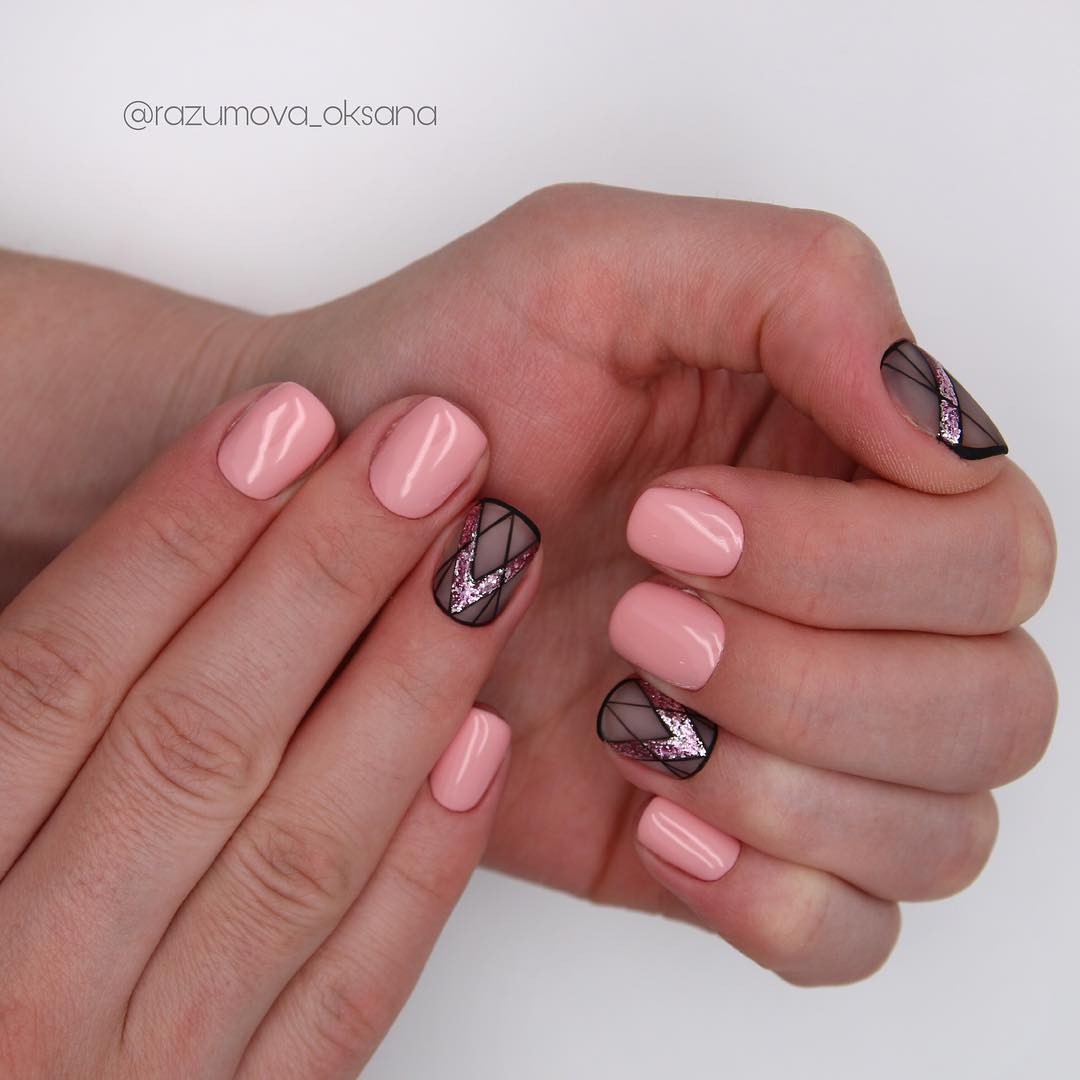 рисунки на коротких ногтях фото_15