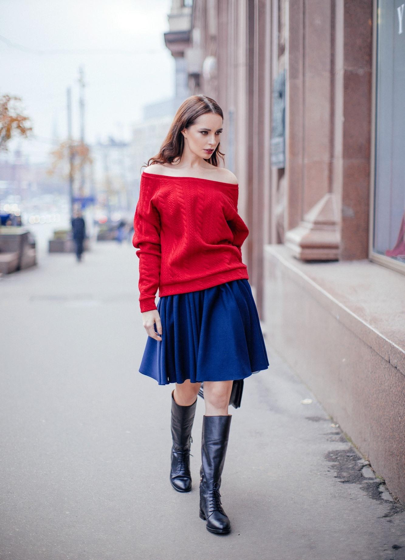яркий свитер с чем носить фото 16