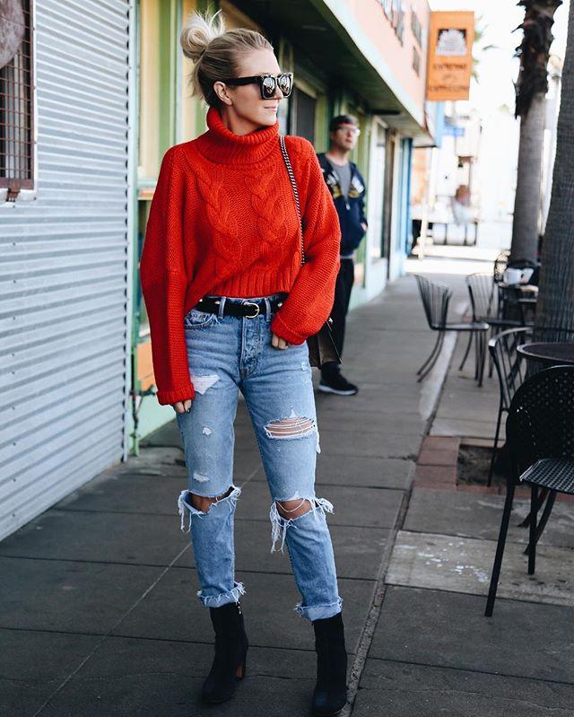 яркий свитер с чем носить фото 18