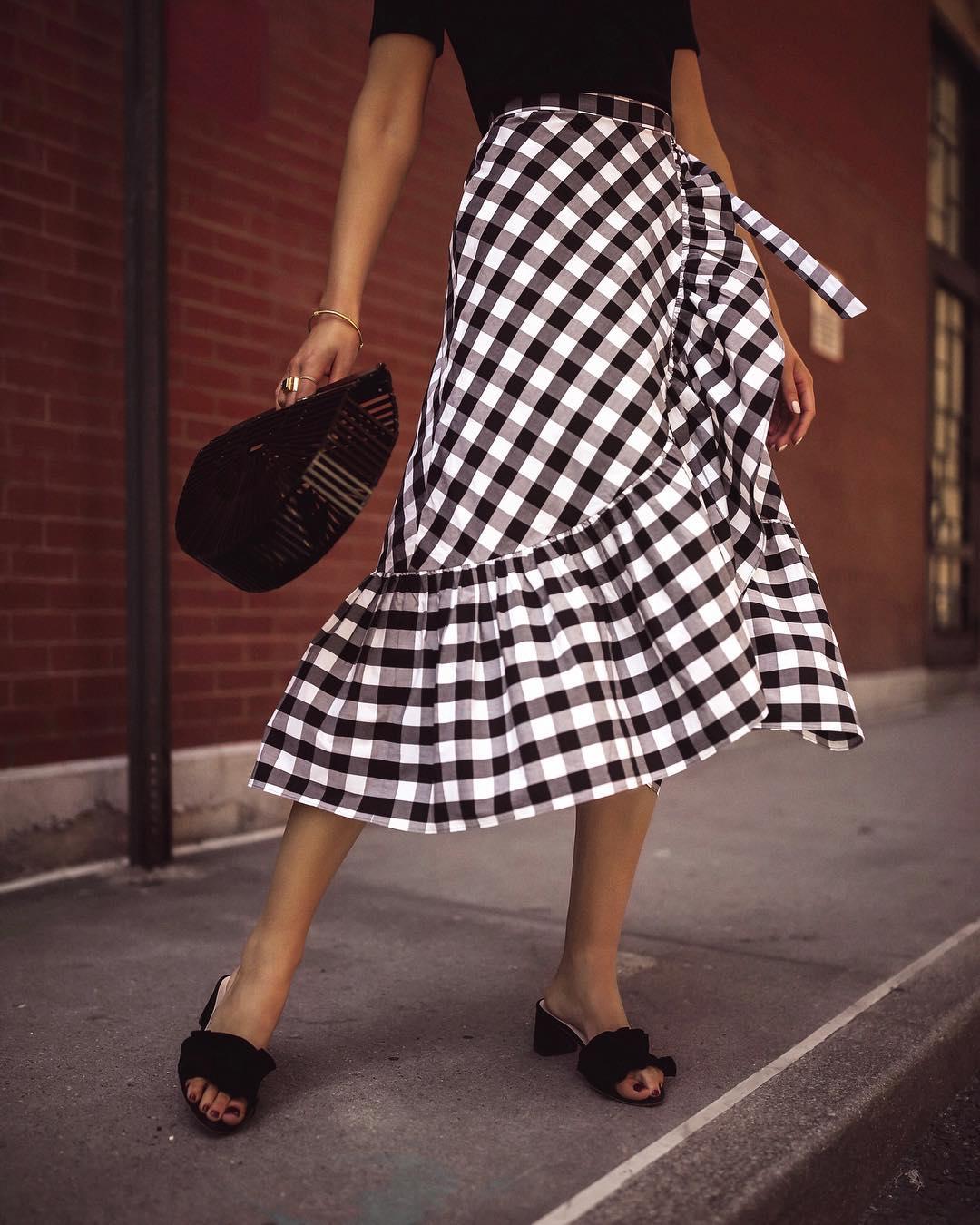 Асимметричная юбка фото 9