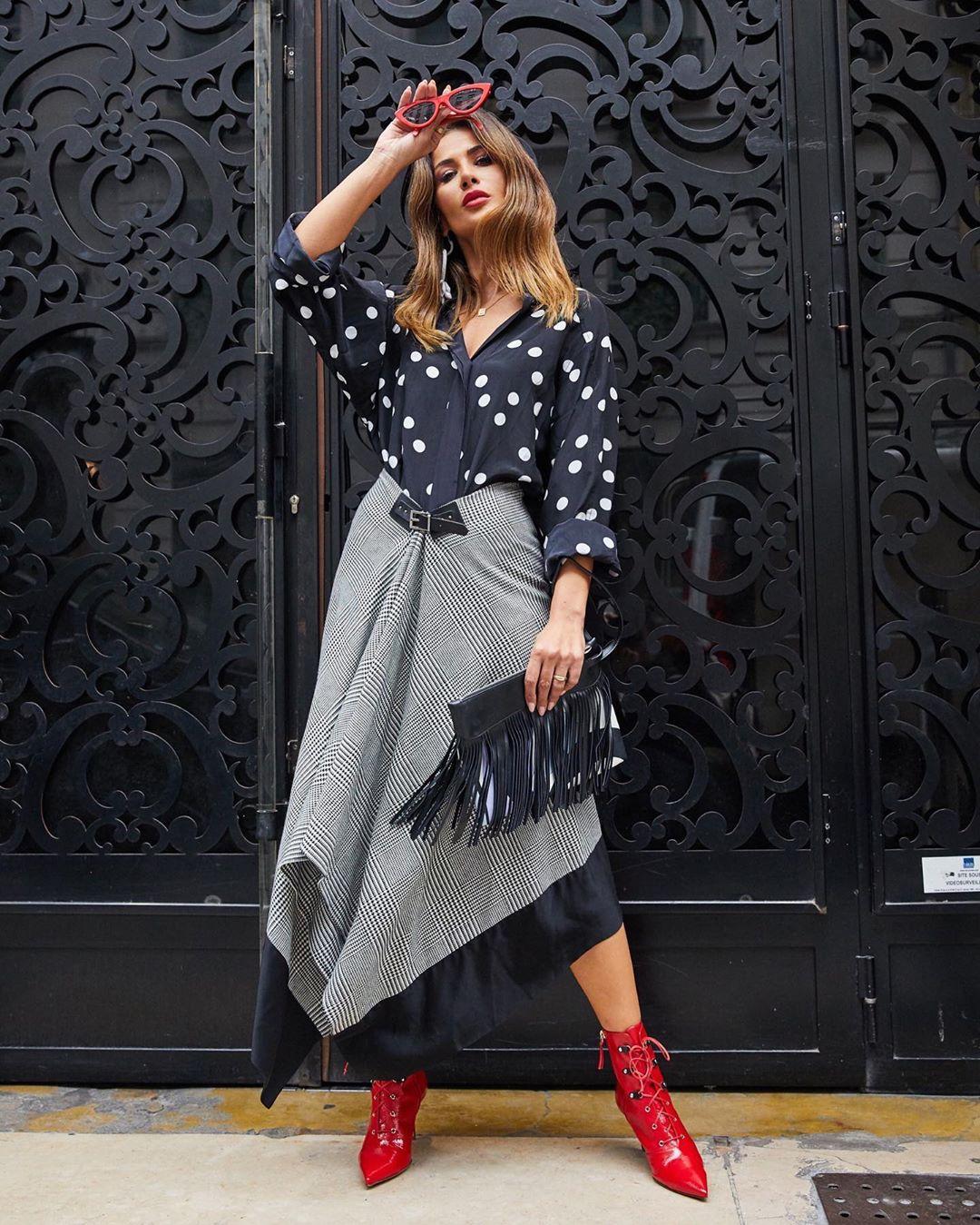 Асимметричная юбка фото 13