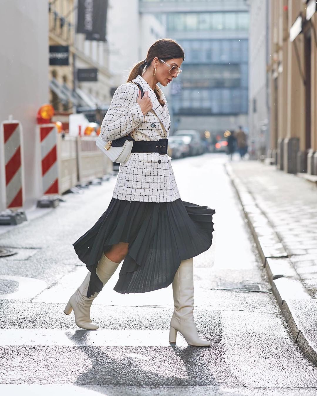 Асимметричная юбка фото 14