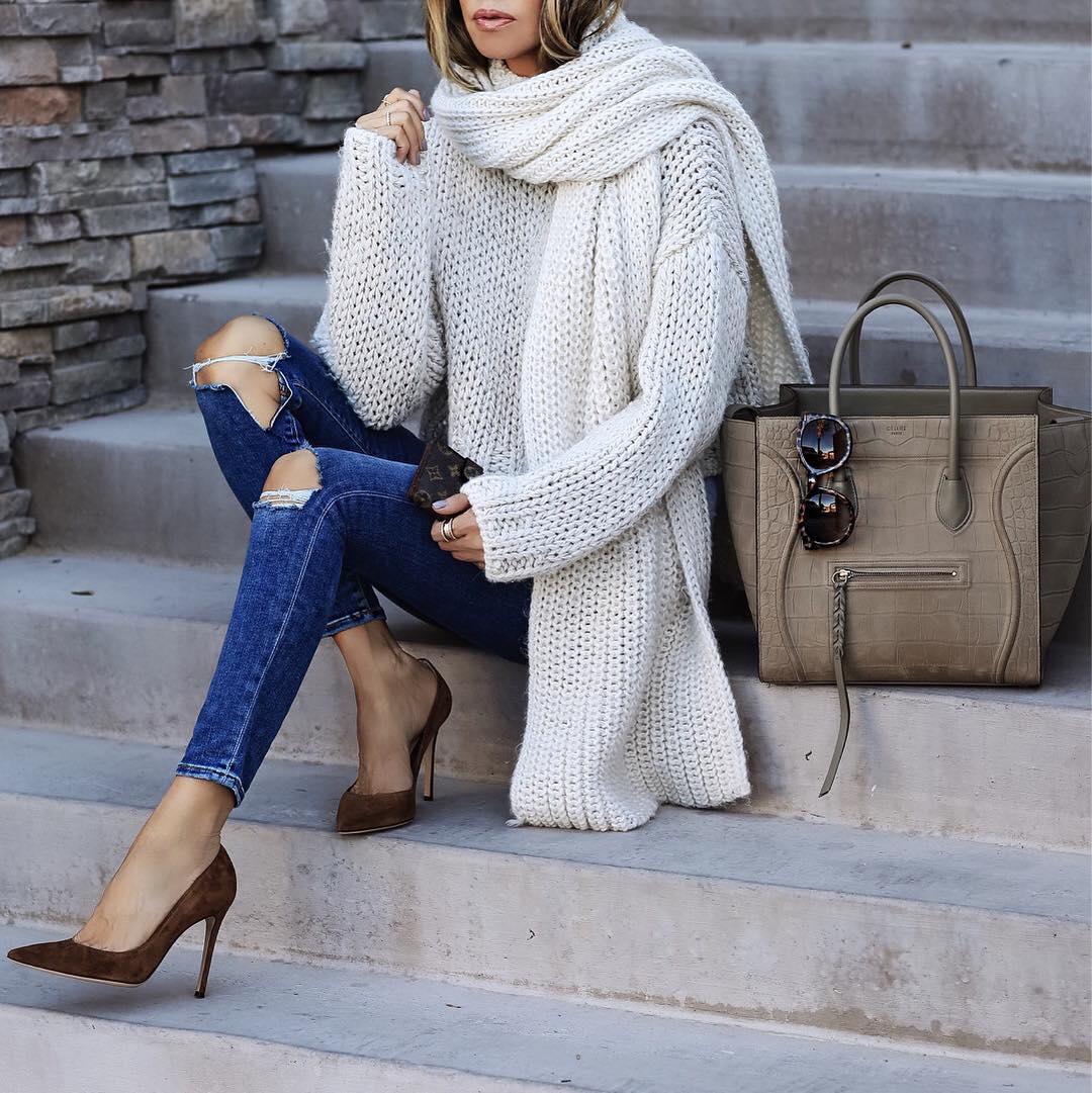 Белый свитер и джемпер зима 2019:20 самых элегантных идей для любого случая