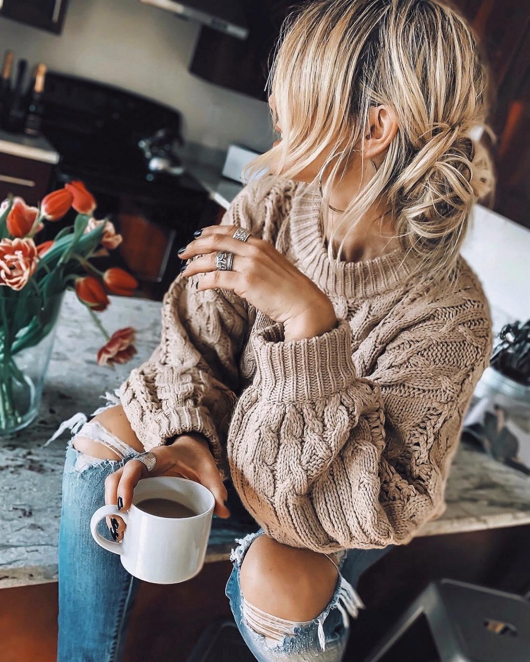 Нюдовый джемпер и свитер зимы 2019 фото 5