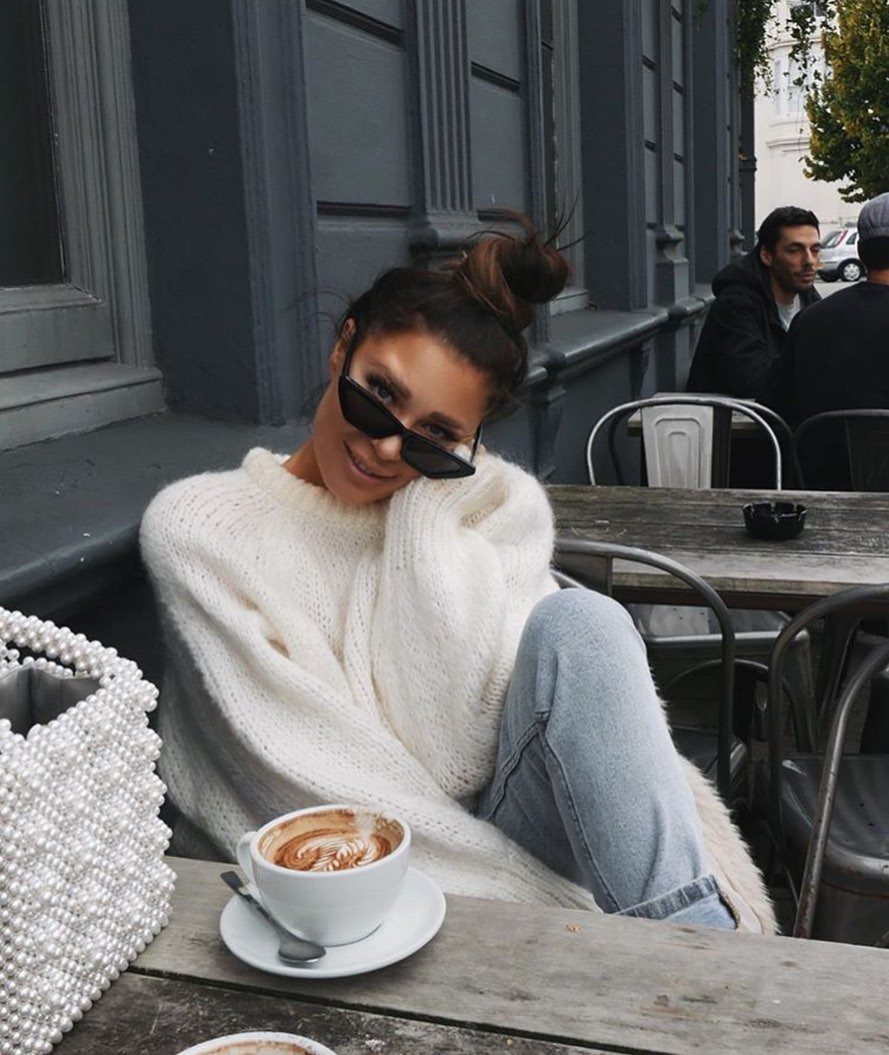 Белый свитер фото 23