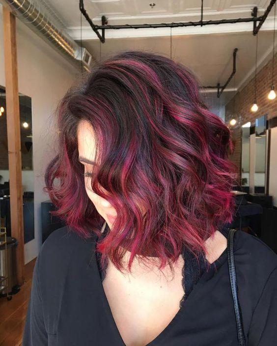 красное и черное окрашивание волос фото 10