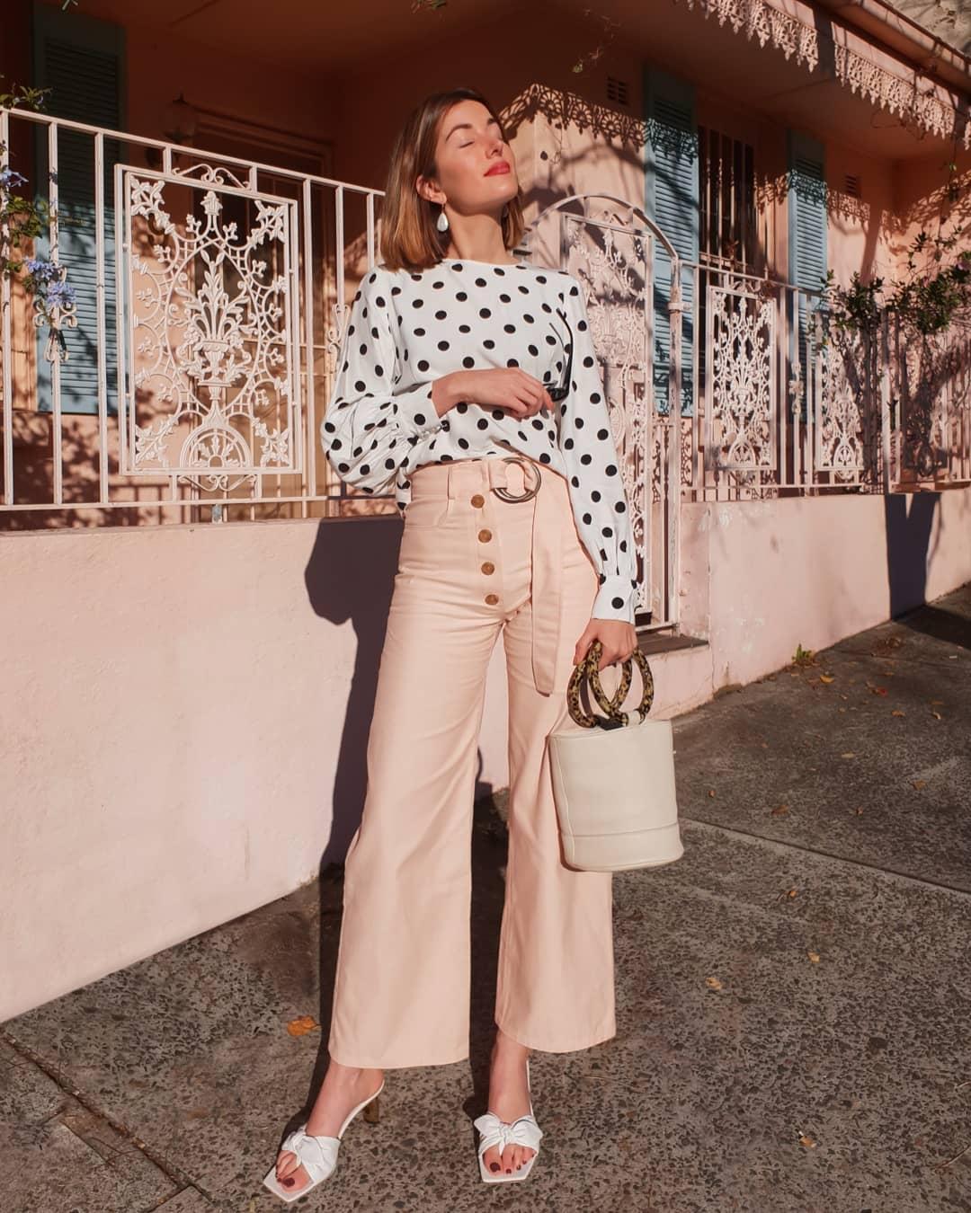 блузка в горошек фото 5