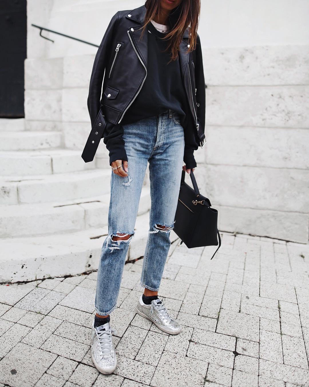 джинсы с кроссовками и кедами фото 7