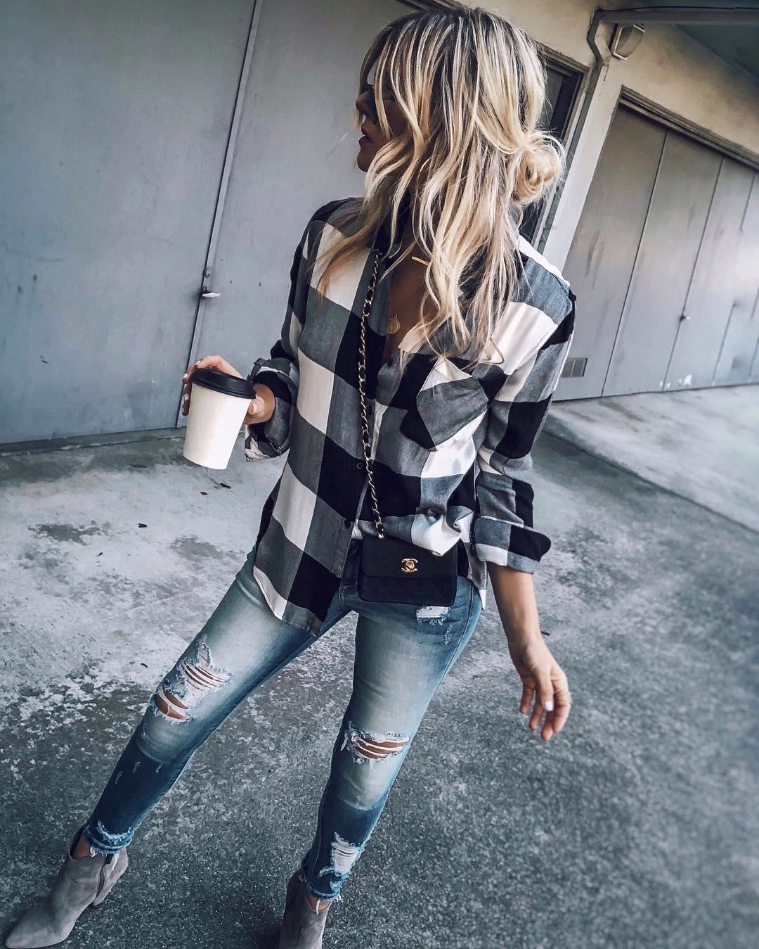 джинсы с рубашкой фото 2
