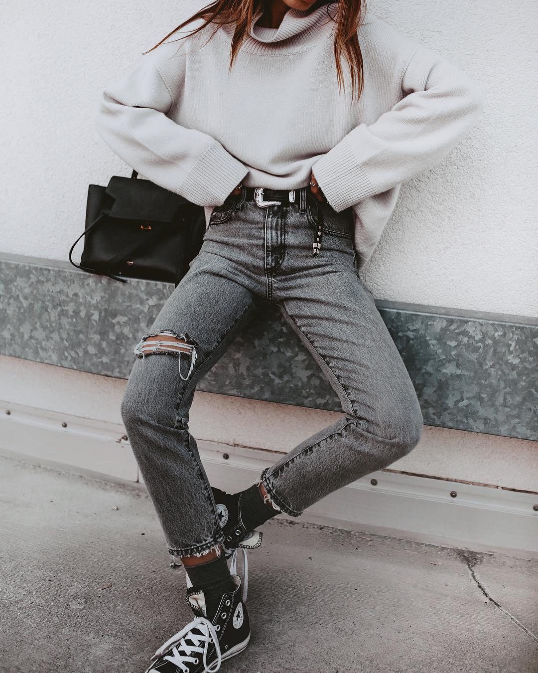 джинсы с кроссовками и кедами фото 16
