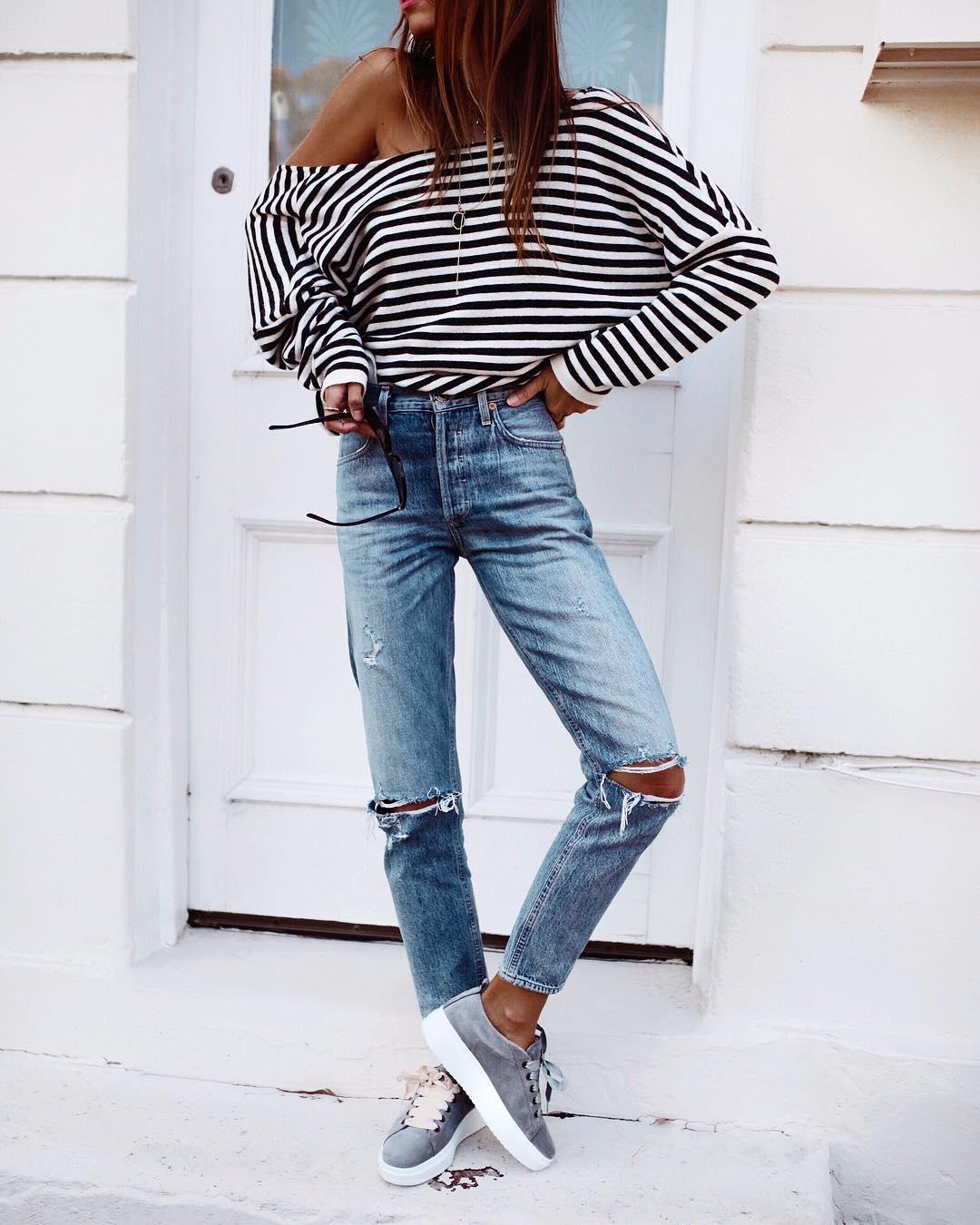 джинсы с кроссовками и кедами фото 8