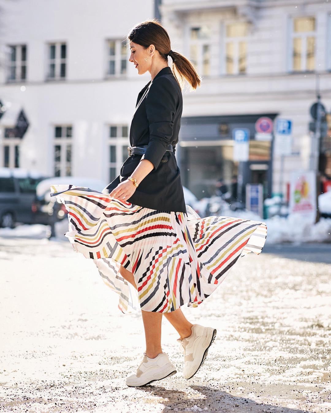 миди-юбка с жакетом фото 3