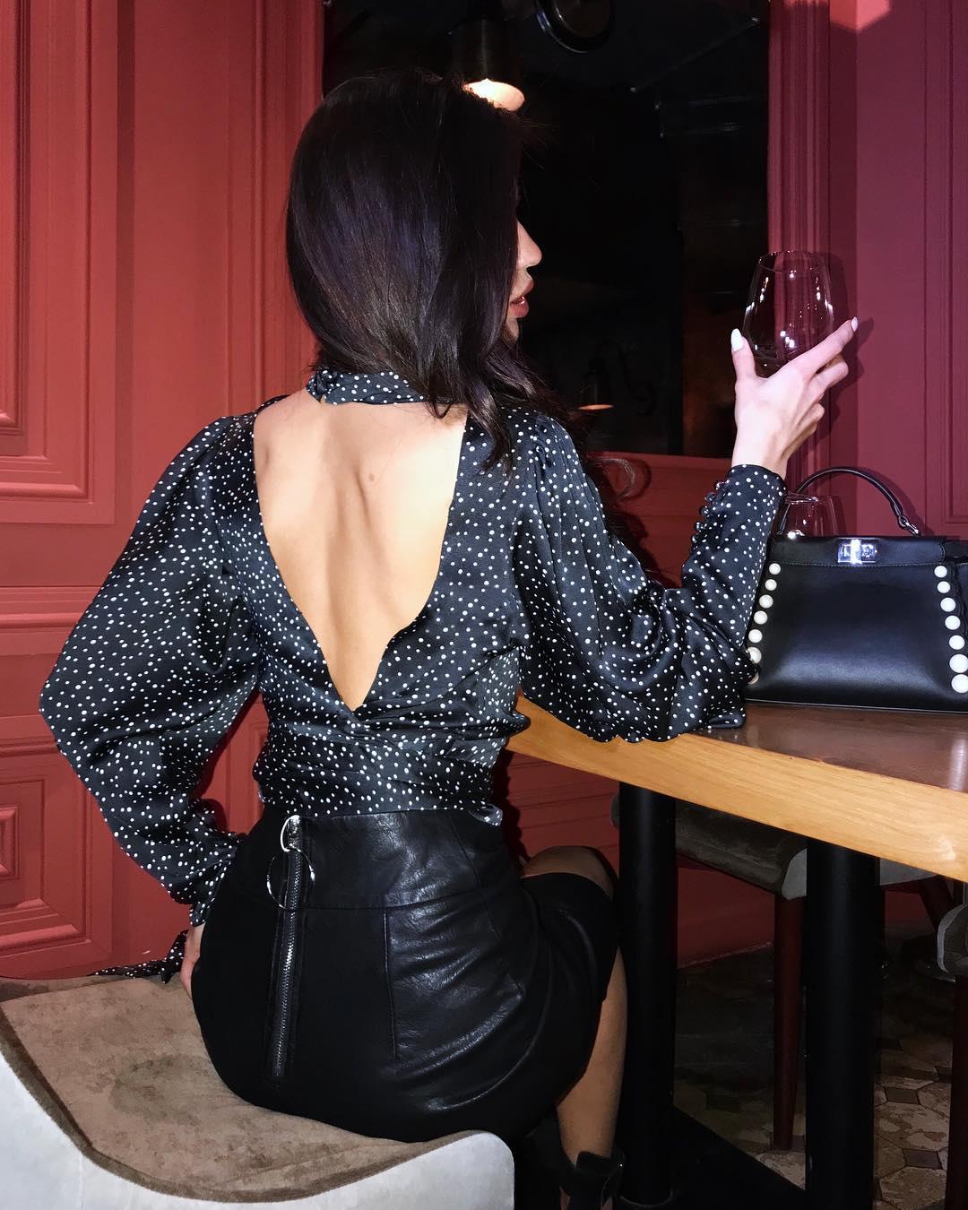 блузка в горошек фото 6