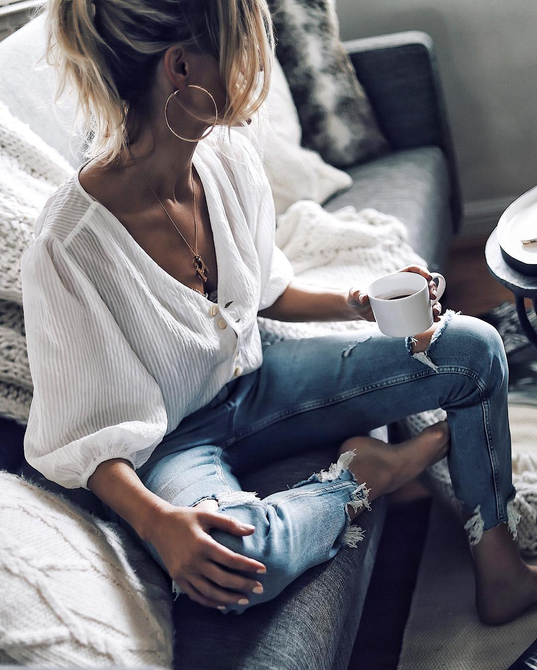 джинсы с рубашкой фото 4