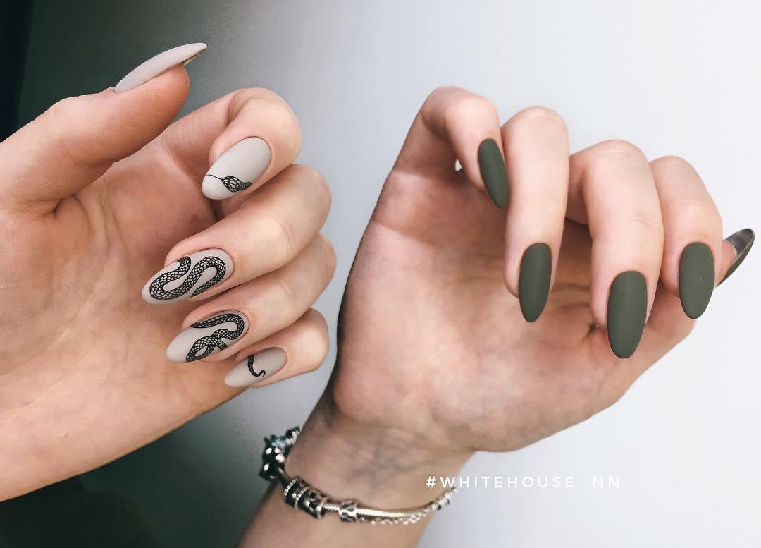 Змеи на ногтях фото_12
