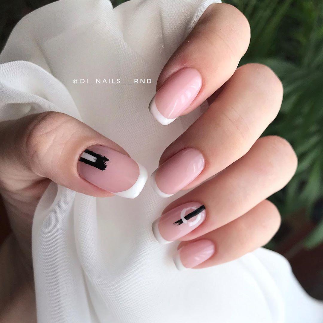 дизайн мазки кистью на ногтях фото_21