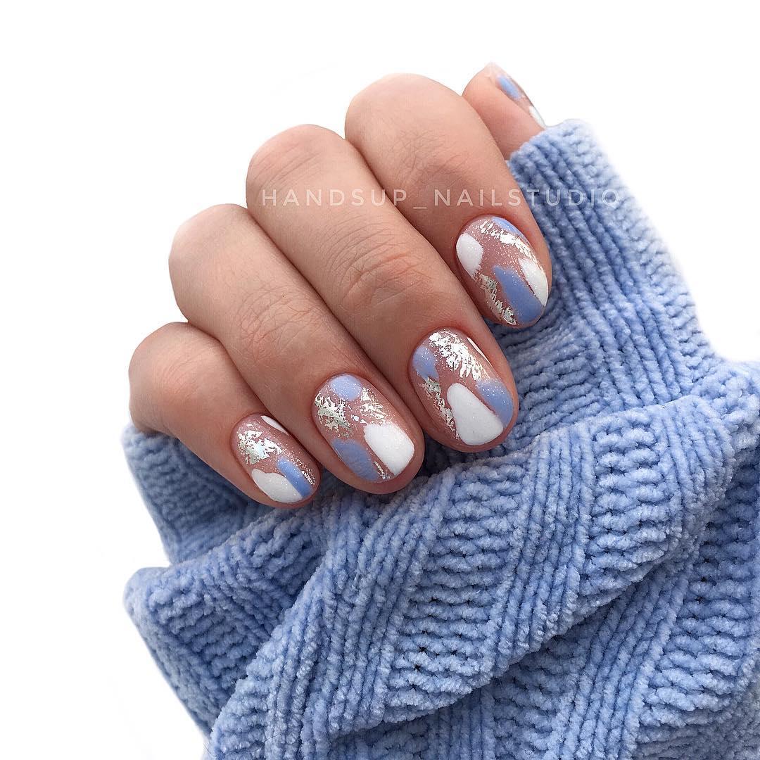 дизайн мазки кистью на ногтях фото_26